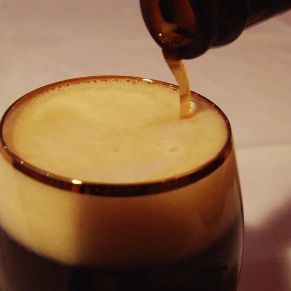 チョコビールグラス